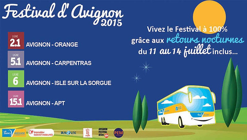 festival d 39 avignon 2015 allez y en bus althen des paluds. Black Bedroom Furniture Sets. Home Design Ideas