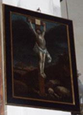 Tableau Crucifixion église Althen des Paluds